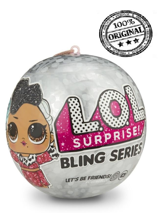 LOL Surprise - Кукла Сюрприз в шарике, Блестящая Bling, на ёлку (Оригинал)