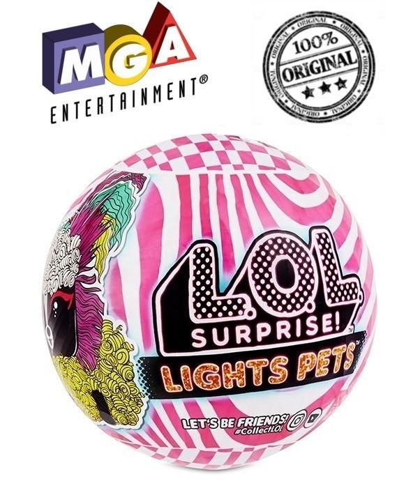 LOL Surprise - Светящийся питомец ЛОЛ, Неон Модные причёски Lights Pets (Оригинал)