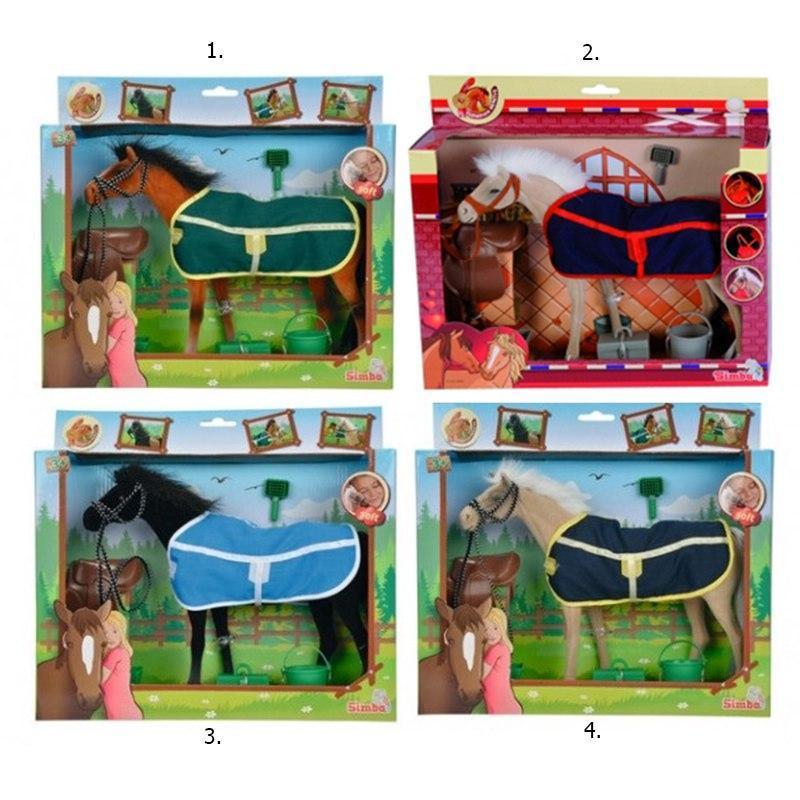 """Simba Игровой набор """"Флоковая лошадка с попоной"""", длина 25 см"""