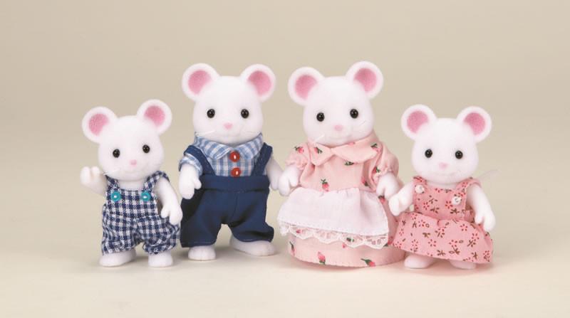 Sylvanian Families Семья Белых Мышей