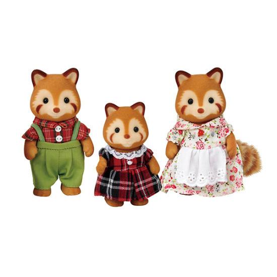 Sylvanian Families Семья Красных панд , 3 фигурки
