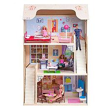 """Игровой набор """"Деревянный дом для кукол"""" - Шарм, с мебелью"""