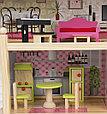 """Игровой набор """"Деревянный дом для кукол"""" с мебелью, 62,5*31*70 см, фото 4"""