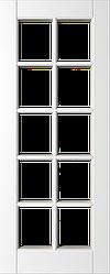 Дверь межкомнатная ПО Уэльс тон Белый, сатинат с решеткой