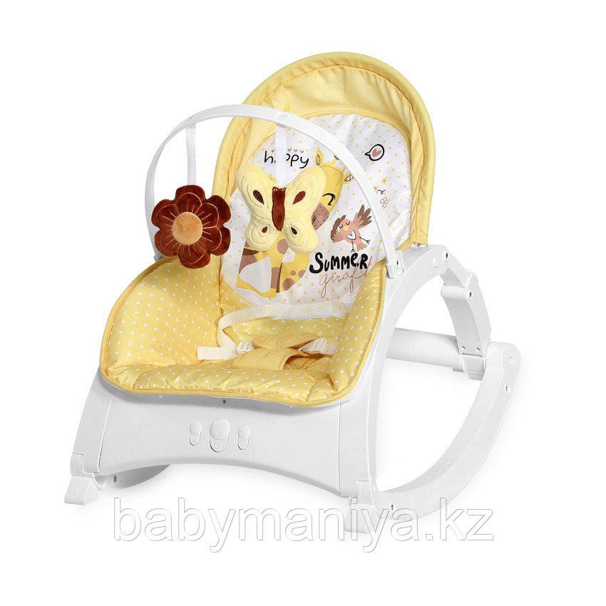 Стульчик-качалка Lorelli Enjoy Желтый / Yellow GIRAFFE 2035