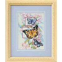 65022 Dimensions Набор для вышивания нитками  Бутоны и бабочки