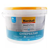 Белоснежная глубокоматовая водно-дисперсионная краска для потолков Marshall Супербелая