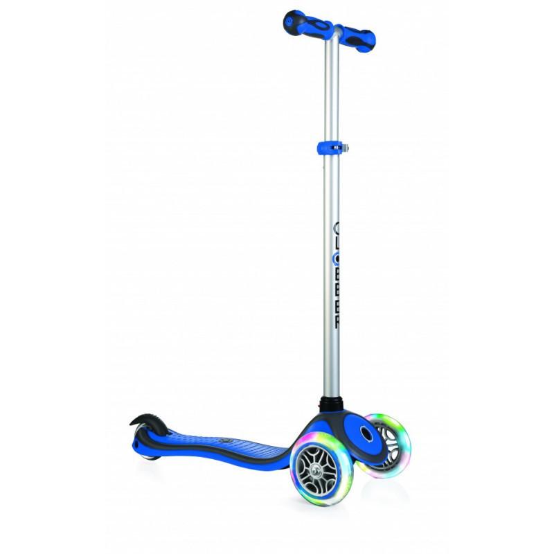 Детский самокат Globber Primo со светящимися колёсами, синий