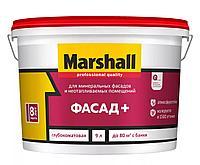 Глубокоматовая водно-дисперсионная акриловая краска для наружных и внутренних работ Marshall  Фасад+