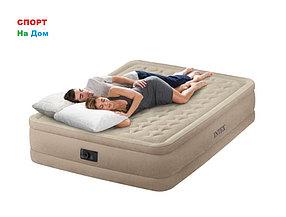 Надувная кровать Intex 64458 (Габариты: 152 х 203 х 46 см) со встроенным насосом