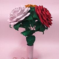 Букетик роз из  глиттерного фоамирана.  Creativ 2461