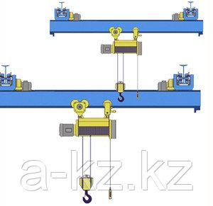Кран мостовой однобалочный подвесной однопролётный  г/п 2 т пролет 15,0 м