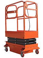 Подъемник ножничный передвижной полуэлектрический TOR GTJY 240 кг 4 м (от сети)