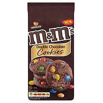 Печенье M&M's double chocolate cookies кукис 180гр (8шт-упак)