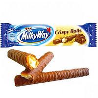 Шоколад MilkyWay Crispy Rolls 25гр (24шт-упак)