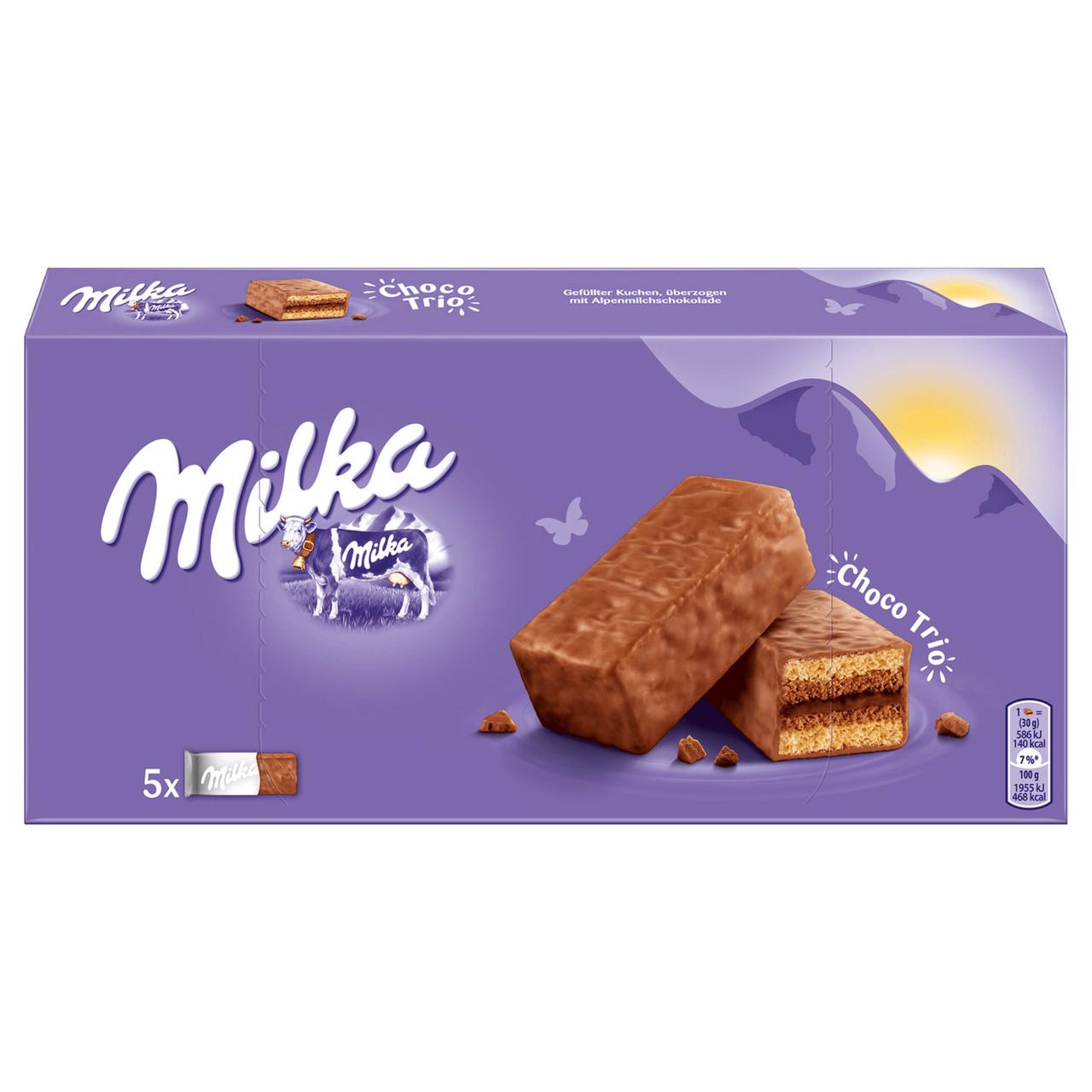 Бисквит Milka Choco Trio Soft Biscuit 150гр (12шт-упак)