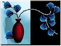 """Набор для вышивания Cross Stitch """"Цветы""""  с нанесённым рисунком"""