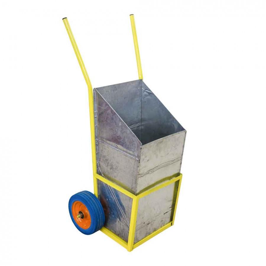 Бак для мусора металлический (2 колеса)