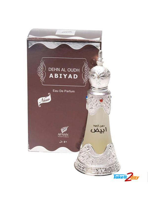 Женские масляные духи Dehn Al Oudh Abiyad Afnan Perfumes (20 мл, ОАЭ)