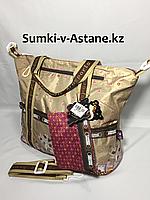 Женская дорожная сумка.Высота 33 см, ширина 40 см,глубина 15 см., фото 1