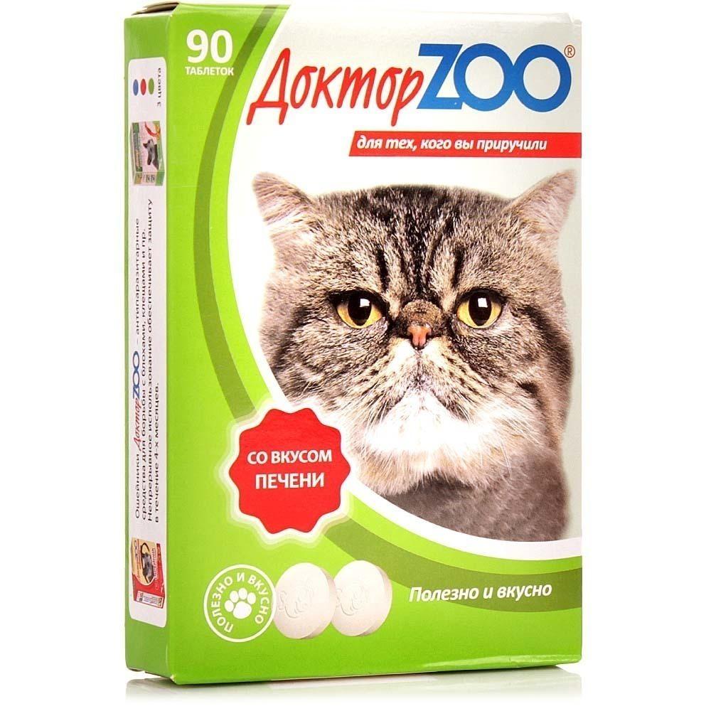 Витаминное лакомство для кошек Доктор ZOO со вкусом печени