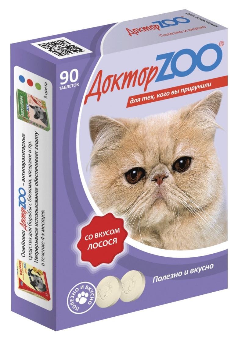 Витаминное лакомство для кошек Доктор ZOO со вкусом лосося