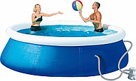 Надувной бассейн Wehncke QUICK-UP голубой (Ø360х76см) в комплекте: фильтрующий насос (1200 л/ч) R 83079