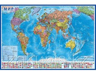 Настенная политическая карта мира 59×40 см