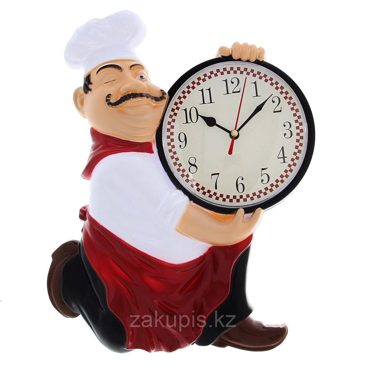 Настенные кухонные часы «Повар» 24×30 см