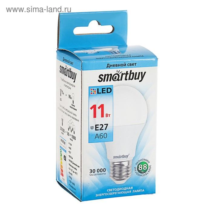 Лампа cветодиодная Smartbuy, A60, E27, 11 Вт, 4000 К, дневной белый свет - фото 3