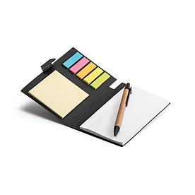 Блокнот со стикерами и ручкой