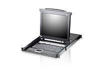 """ATEN CL5708M-AT-RG 8-портовый KVM-переключатель Slideaway™ с 17"""" ЖК-дисплеем"""
