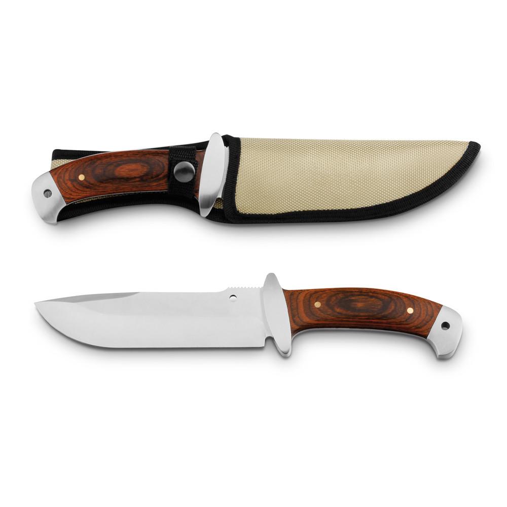 Нож из нержавеющей стали и дерева с чехлом, NORRIS