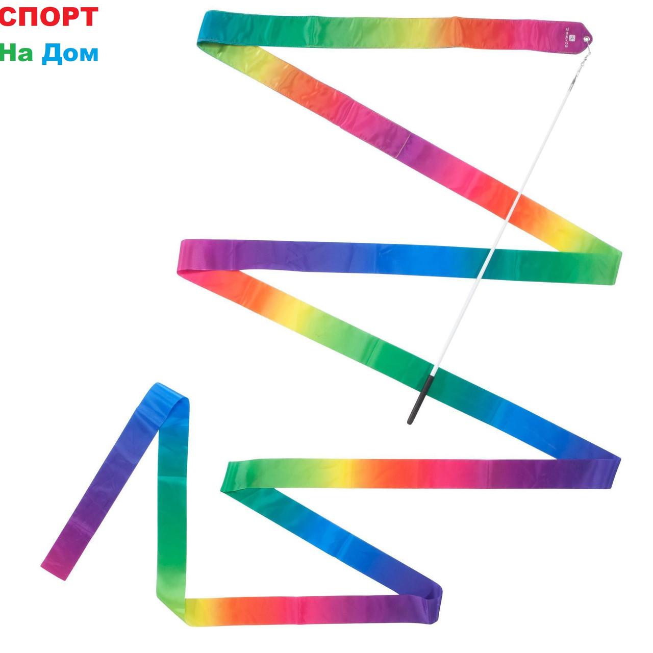 Ленты для художественной гимнастики (Цвет радужный,синий,зелёный)