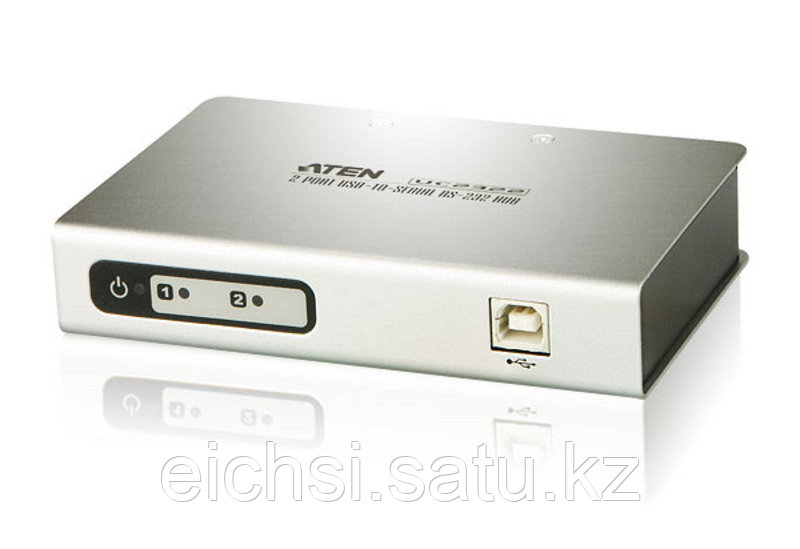 Конвертер, переходник интерфейса USB-RS232 c 2-портовым концентратором   ATEN UC2322