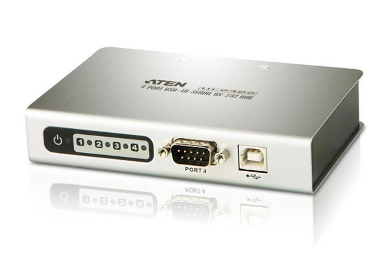 4-портовый концентратор с переходником USB-последовательный порт (RS232)