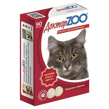 Витаминное лакомство для кошек Доктор ZOO Здоровье кожи и шерсти