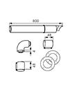 Коплект для горизонтального прохода - 0020219516, фото 2
