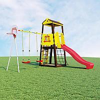 Детский спортивный комплекс Избушка ROMANA (Качели пластиковые), фото 1