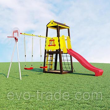 Детский спортивный комплекс Избушка ROMANA (Качели пластиковые)