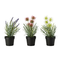 Искусственное растение в горшке, лаванда разные цвета, IKEA ИКЕА ИКЕЯ