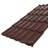 Металлочерепица Монтеррей МАТОВЫЙ 8017 шоколад 0,4 толщина