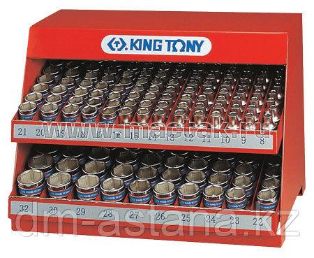 """KING TONY Стенд с торцевыми головками 1/2"""", 8-32 мм, серия 4335M, 172 предмета KING TONY 4572MR"""