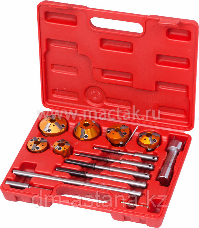 МАСТАК Набор фрез для правки седел клапанов, 28-65 мм, кейс, 14 предметов МАСТАК 103-13014C