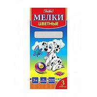 "Мелки HATBER ""Далматинцы"", 3 цвета, 3 шт/уп  KMn_03530 (1808)"