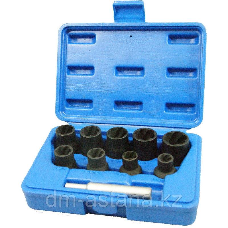 МАСТАК Набор торцевых головок для поврежденных гаек и болтов, 10-19 мм, кейс, 10 предметов МАСТАК 109-30010C