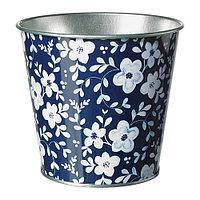 Кашпо, синий с рисунком, IKEA ИКЕА ИКЕЯ