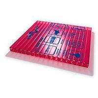Сотовый поликарбонатный лист прозрачный Woggel 2100х6000х10 мм