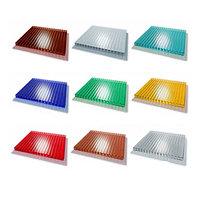 Сотовый поликарбонатный лист цветной Woggel 2100х6000х6мм
