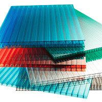 Сотовый поликарбонатный лист цветной Woggel 2100х6000х8мм